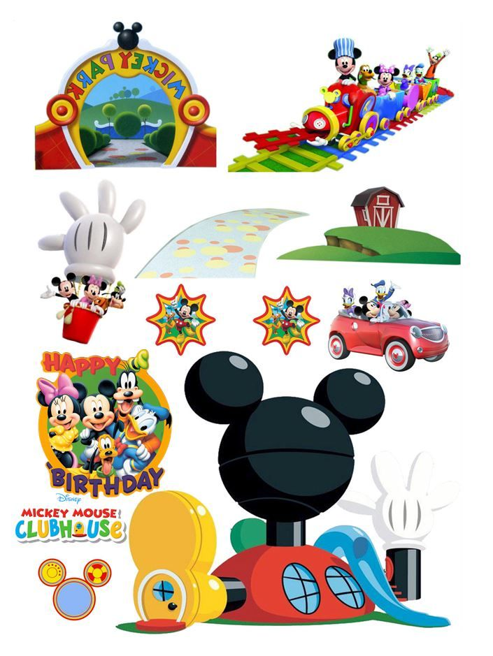 Mickey Mouse Clubhouse Edible Wafer Card Cake Topper Scene
